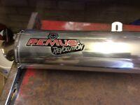 Remus chrome exhaust for Suzuki Bandit 1200