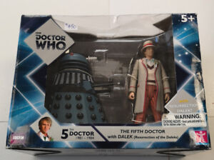 BBC Doctor Who The 5th Doctor with Dalek Action Figures