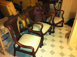3 Antique chairs (ladies, gentlemens and rocking)
