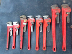 RIDGID 10-in, 12-in, 14-in, 18-in, 24-in Steel Pipe Wrenches