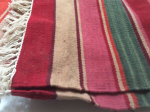 two Pottery barn indoor outdoor area rugs