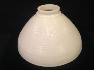WHITE MILK GLASS TORCHIERE LARGE LAMP DIFFUSER SHADE ( VINTAGE )