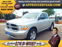RAM 1500 4X4 - $216+TAX BI-WEEKLY OAC - APPLY @ APPROVEDBYSAM.CO