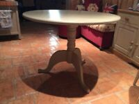 Small round table painted in Annie Sloan chalk paint