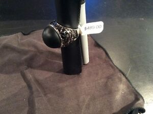 """WOMANS BLACK ONYX 925 STERLING RING """"NEW' West Island Greater Montréal image 3"""