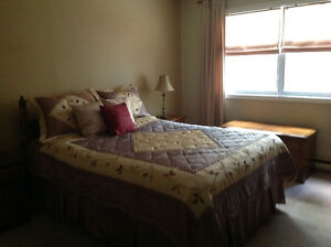 Queen bed and furniture
