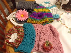 knitted children's caps all 5.00 ea