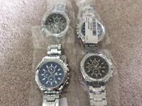 Brand new stainless steel quartz watches