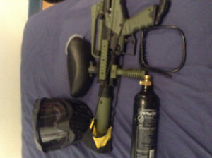 Brand new paintball gun, mask and co2 mask