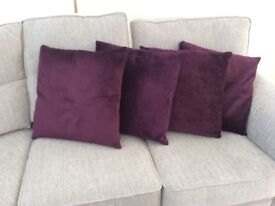 "M&S 4 Large Scatter Cushions 18"" Square"
