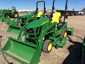 JOHN DEERE 1025R-H120 LOADER-647 TILLER-54 AUTO CONNECT DECK