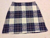 Boohoo Checkered Skirt Size 8
