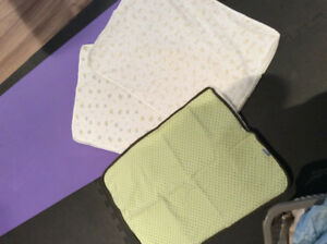 3 Kushies baby change pads with waterproof backing