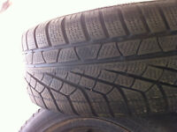 Set of 4 snow tires and steeles rims