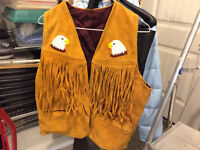 REDUCED!  REDUCED!,   NATIVE AMERICAN BEADED VEST