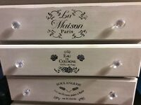 Annie Sloan shabby chic white chest of drawers