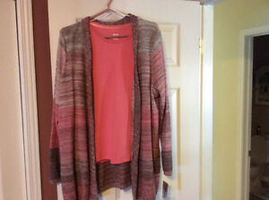 New, with tags. Ladies' t-shirt & cardigan set - size L