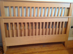 FREE solid  maple queen size bed frame