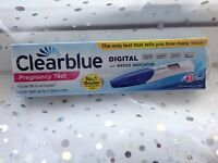 Clearblue Pregnancy Digital Test + Weeks Indicator NEW Sealed