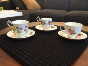 3 Bone China cup and saucer