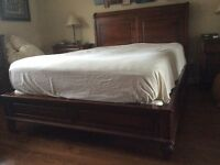 Queen bed and wood frame