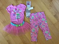 Brand new 3 piece Happy Birthday girls outfit size 18 months