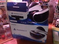PlayStation VR headset and VR camera.