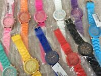 Brand new quartz watches with silicone jelly straps