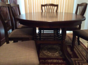 Brand new dining table and 6 chairs