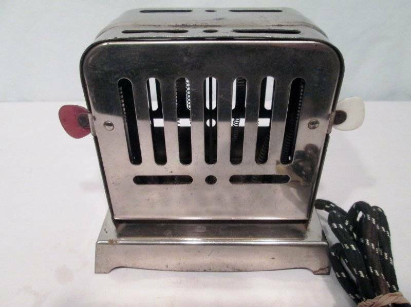 Antique Vtg Toaster Knapp Monarch #250 Chrome Flopper Two Slice Cord Works