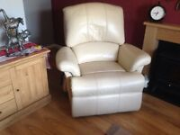 Sherborne cream soft leather electric armchair