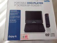 "Portable 9"" DVD player"
