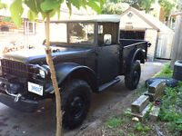 1952 Canadian Military army Dodge M37 trade for antique only :)