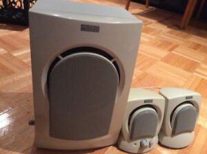 ALTEC LANSING COMPUTER /COMPAQ MONITOR SPEAKERS