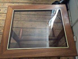 Wood Glass Coffee Table £5