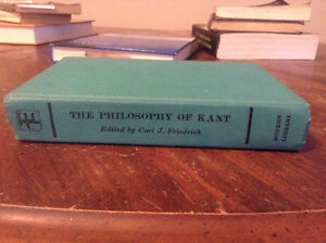 THE PHILOSOPHY OF KANT - EDITED BY CARL J. FRIEDRICH