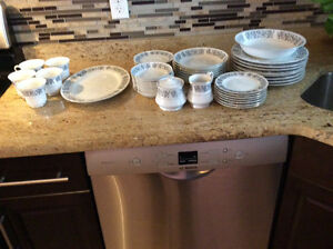 Town House fine china dinner set for eight people for sale$100