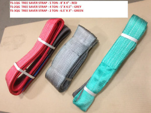Tree Saver Winch Straps. Red and Grey at Blowout Prices