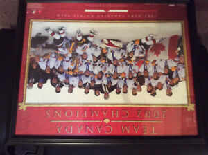 2002 Men's Canada Hockey Framed Photo