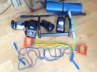 Exercise equipment, resistance trainer,ab roller and much more.