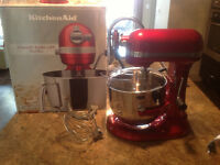 Professional Candy Apple Red Kitchen Aid Mixer