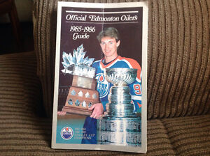 Official Edmonton Oilers 1985-1986 Guide with autographs Peterborough Peterborough Area image 1