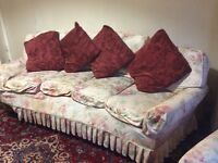 3 Piece Suite - Sofa and 2 Chairs