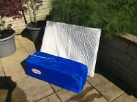 Little Tykes travel cot with extra mattress insert