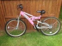 "Trax TFS1 ladies full suspension 16"" mountain bike"