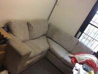 Grey Large Four Seats Corner Sofa