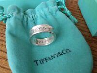 Genuine Tiffany ring small size j
