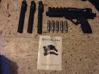 Ariakon Overlord paintball pistol and holster