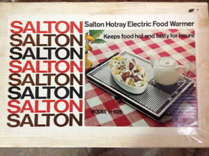 Salton Hotray 15x10 Food Warmer H-928 Buffet Hot Plate Hotspot W