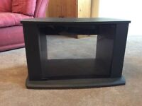 Tv table with glass window